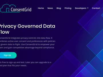 Become a pilot: ConsentGrid: Privacy governed data flow and data mapping