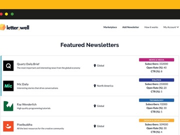 Become a pilot: LetterWell - Buy and sell advertising space in newsletter emails