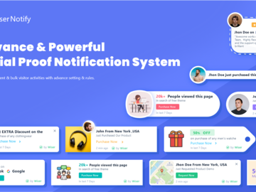 Become a pilot: WiserNotify: Social Proof Notification Solution