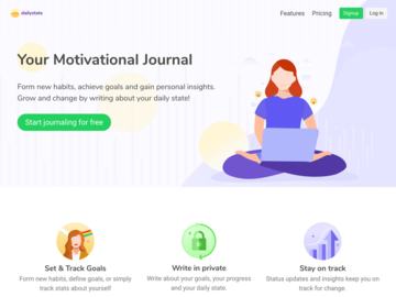 Become a pilot: DailyState - Motivational Journaling App